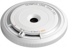Olympus M. Zuiko Digital 15mm f/8 Body Cap Lens BCL-1580 bílý