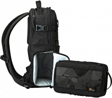 Lowepro ViewPoint 250 AW s poudrem ViewPoint 80L, detail