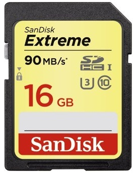 Sandisk Secure Digital 16GB Extreme, SDHC 90MB/s Class 10
