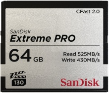 SanDisk Extreme Pro CFAST 2.0 64 GB 525 MB/s VPG130