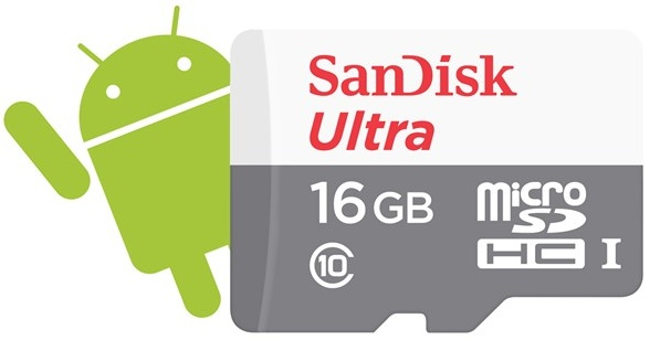 SanDisk Secure Digital Micro SDHC 16GB Ultra Android 48 MB/s Class10