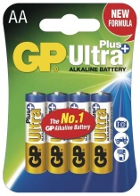 GP AA Ultra Plus, alkalická - 4ks
