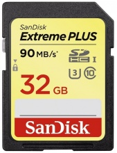 Sandisk Secure Digital 32GB Extreme PLUS, SDHC 90MB/s Class 10