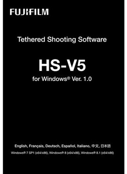 Tethered shooting software hs v5 for mac windows 7