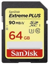 Sandisk Secure Digital 64GB Extreme Plus, SDXC 90MB/s Class 10