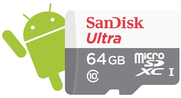 SanDisk Secure Digital Micro SDXC 64GB Ultra Android 48 MB/s Class10