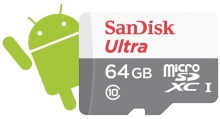 SanDisk Secure Digital Micro SDXC 64GB Ultra Android 48 MB/s Class10 + adaptér