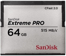Sandisk Compact Flash Extreme Pro CFAST 2.0 64 GB 515 MB/s
