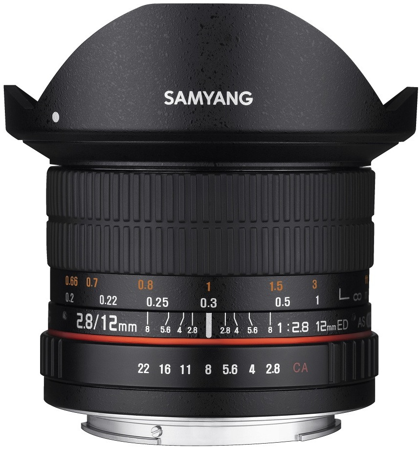 Samyang 12mm F2,8 ED AS NCS Fish-eye Nikon AE