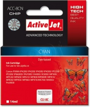 ActiveJet Ink cartridge Canon CLI-8 Cyan WITH CHIP - 14 ml ACC-8C