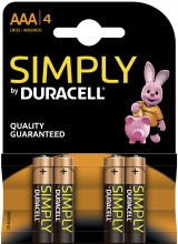 Duracell Simply AAA (LR03) 4 baterie