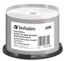 Verbatim DVD-R(50-Pack)Spindle / Printable / 16x / 4.7GB / Waterproof / NON-ID